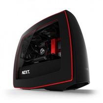 Gabinete Pc Nzxt Mini Itx Manta Matte Black/red Fan 3x120mm