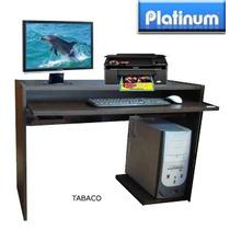 Mesa De Computación Platinum Tabaco