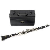 Clarinete Custom 17 Chaves Bb Em Abs Chaves Niqueladas Case