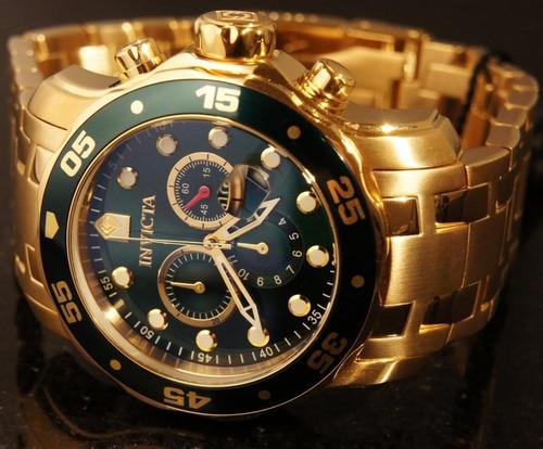 9af551e86fc Relógio Invicta 0072 Banhado Ouro 18k Original - R  600