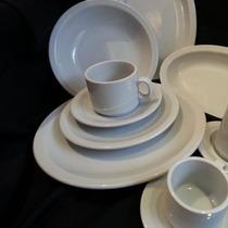Juego Vajilla Porcelana Tsuji 12 Cazuelas 450 Blancas Ss