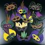 12 Plumas Máscaras Del Carnaval Del Partido Del Traje Masqu
