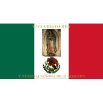 Lienzo Tela Bandera Guerra Cristera 1926 50 X 90 Cm Historia