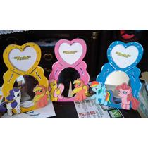 Espejos Centros De Mesa My Little Ponys Infantiles Madera