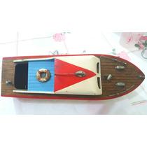 Barco Original 1960 Em Madeira Conservado