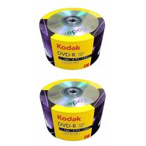 100 Midia Dvd-r Virgem Kodak C/logo 16x 4.7gb Original