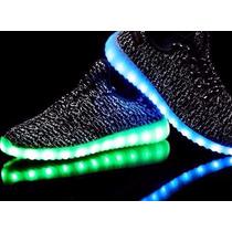 Tenis Adidas Yeezy Boost Luz Led 7 Colores Unisex