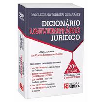 Dicionário Universitário Jurídico Rideel - Frete R$ 6,00