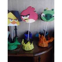 Centros De Mesa Angry Birds Para Cumpleaños Infantiles $70