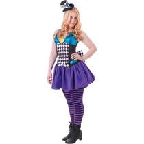 Sombrerero Loco Traje - Chicas Adolescente Vestido De Lujo D
