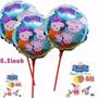 40 Balão Metalizado Peppa Pig Enfeite De Mesa 21x21