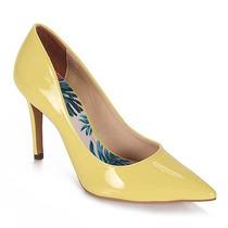 Sapato Scarpin Feminino Lara - Amarelo
