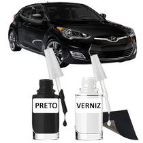 Tinta Tira Risco Automotivo Hyundai Veloster Cor Preto