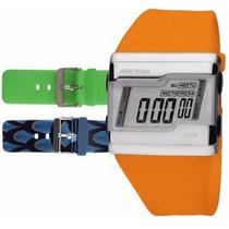 Relógio Mormaii Digital Kit Troca Pulseira Fz/n8l