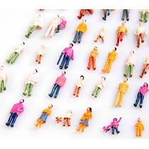 50 Miniaturas Figuras Bonecos Pessoas Maquetes Escala 1:100