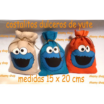 Come Galletas Plaza Sesamo Costalitos Yute Personalizados 30