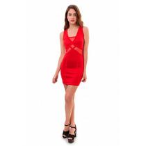 Vestido Corto Con Transparencias, Brishka, M-0027