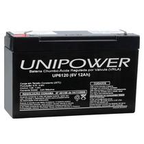Bateria Selada 6v 12ah Unipower Brinquedo Moto Elétrica
