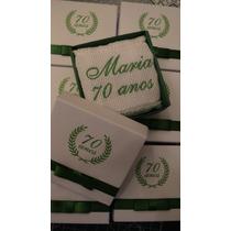 30 Lembrancinhas Personalizadas Caixinha Toalha Mão Bordada