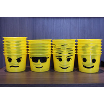 25 Baldes Pipoca - Lembrancinha Festa Lego
