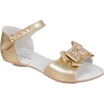 Sandalia Feminina Infantil Dourada