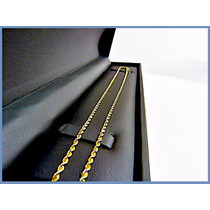 Cadena Oro Amarillo Solido 14k Mod. Torzal 2mm 6.7grs Acc