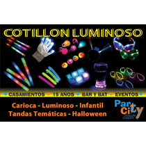 Combo Cotillón Luminoso Carioca Fiestas Casamientos 15 Años