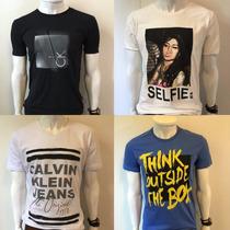 Camiseta Sergio K Masculina Selfie Ancora Calvin Klein Ellus