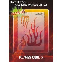 Molde Vazado True Fire Aerografia E Pinturas Rf016