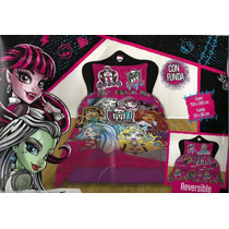 Acolchado Reversible+ Juego D Sabanas Monster High 1380 $