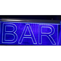 Letreros Luminosos Bar Con Leds Y Control Remoto.