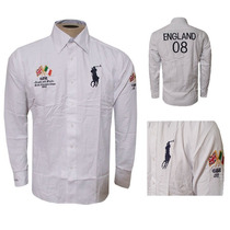 Camisa Social Ralph Lauren Branca Sport - Frete Grátis