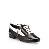 Sapato Feminino Oxford Grife Elie Tahari Couro Verniz - Novo