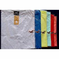 Kit C/10 Camisetas Camisas Lisas Gola V Varias Marcas