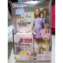 Barbie Happy Family Muneca Embarazada Con Bebe