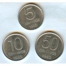 Argentina 1983lote Monedas Aluminio 5 - 10 - 50 Centavos