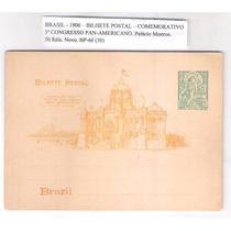 Bp-66 Bilhete Postal Palácio Monroe 1906 Cong. Panamericano