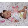 Bebê Reborn Corpo Inteiro Em Vinil Siliconado Detalhes Reais
