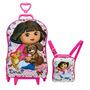 Mochila Escolar Mochilete 3d Dora Aventureira Pets + Lanchei