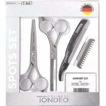 Kit Tondeo Spots Set Tijera Corte + Entresacar +navajin