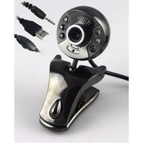 Webcam 7 Mega Pixel Com Microfone 6 Leds Visão Windows 7 E 8