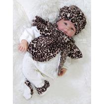 Saída Maternidade Menina Princesa Oncinha Enxoval De Bebê
