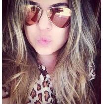 Óculos De Sol Aviador Rayban Espelhado+promoção+brinde