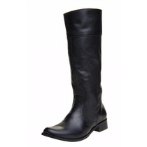 Sapato Feminino Bota Montaria Clacle Couro Preto