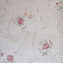 Papel De Parede Importado Textura Flores Rosas Floral 901203