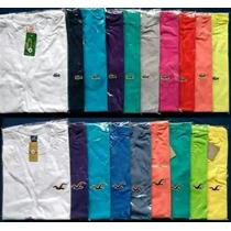Camisas Hollister Lacoste Ck Malha Fina Atacado C/ 10 Camisa