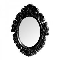 Espelho De Parede Plastico Oval Vintage Promoção Preto