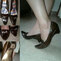 Hermosos Zapatos Casuales Vicmatie Tacon Pequeño Talla 39