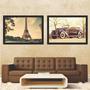 Quadros Poster Vintage Retrô Antigos 50x70cm Com Moldura