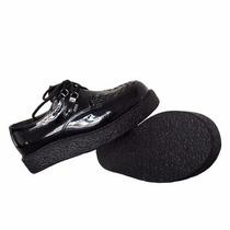 Creeper,sapato,trança,envernizado,frete Grátis,cr-024